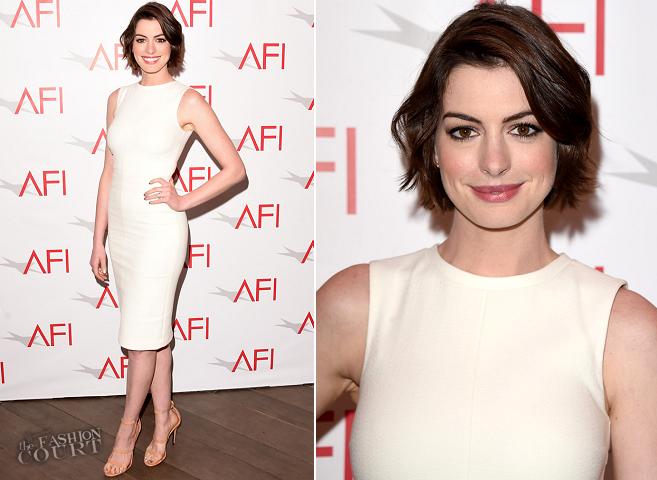 Anne Hathaway in Protagonist : 2015 AFI Awards u2013 The Fashion Court