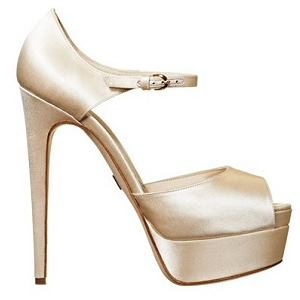 Brian Atwood Satin 'Tribeca' Custom Dyeable Platform Sandals