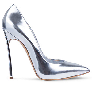 Casadei 'Blade' Pumps in Silver