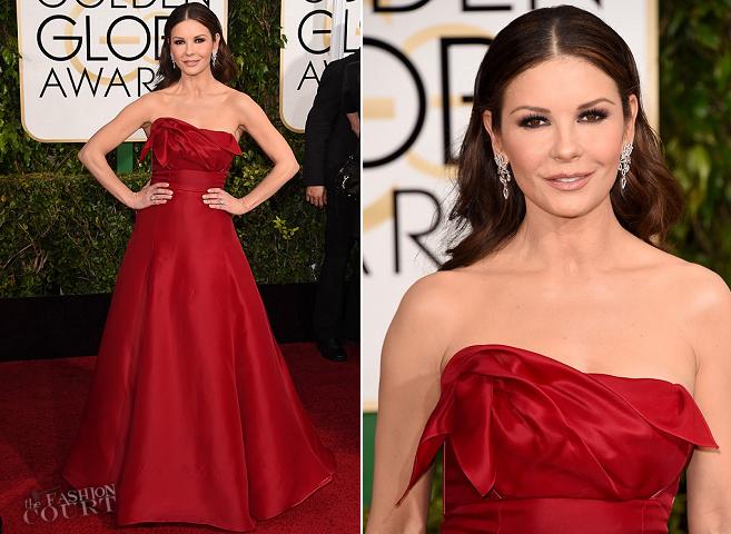 Catherine Zeta-Jones in Angel Sanchez   2015 Golden Globes