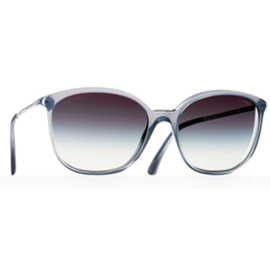 Chanel BIJOU Acetate Oval Sunglasses in Grey