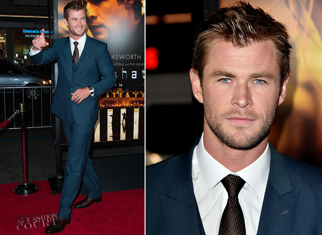 Chris Hemsworth in Dolce & Gabbana | 'Blackhat' Hollywood Premiere
