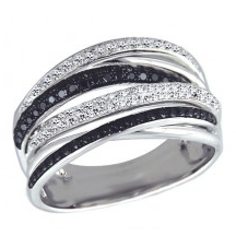 EFFY Jewelry Prism Black and White Diamond Ring