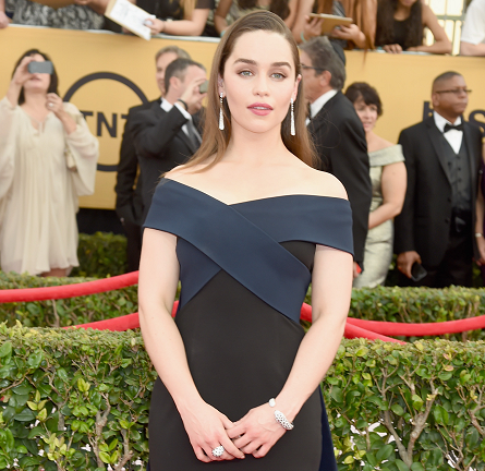 Emilia Clarke in Donna Karan Atelier | 2015 SAG Awards
