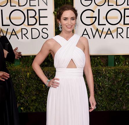 Emily Blunt in Michael Kors | 2015 Golden Globes