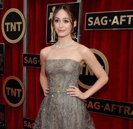 Emmy Rossum in Armani Privé | 2015 SAG Awards