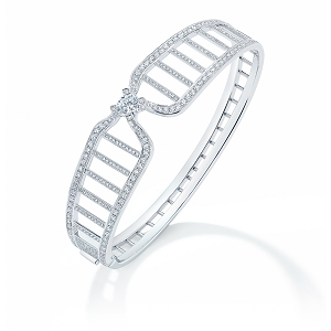 Forevermark Diamond Cuff with Round Brilliant Forevermark Diamonds set in 18k White Gold