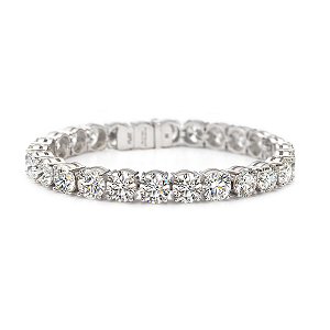 Forevermark Diamond Bracelet with Round Brilliant Forevermark Diamonds set in Platinum