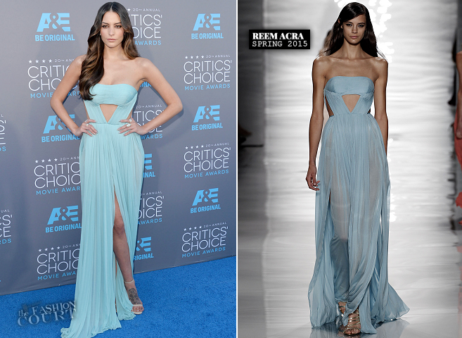 Genesis Rodriguez in Reem Acra | 2015 Critics' Choice Movie Awards