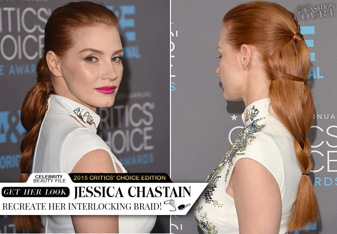 Get The Look: Jessica Chastain - Critics' Choice Movie Awards 2015