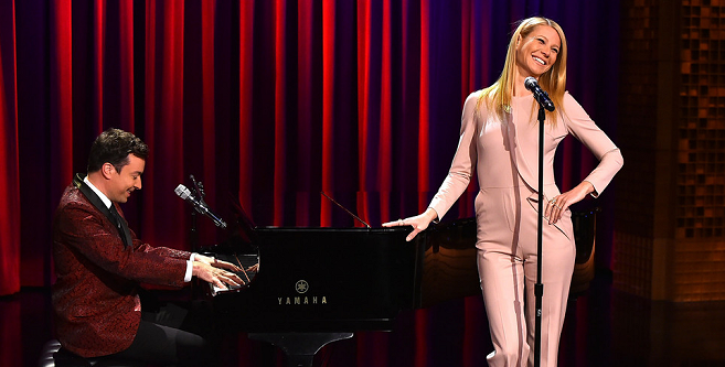 Gwyneth Paltrow in Elie Saab | 'The Tonight Show Starring Jimmy Fallon'