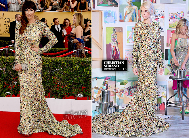 Jackie Cuz in Christian Siriano | 2015 SAG Awards