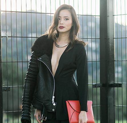 Jamie Chung in Lovers + Friends   What The Chung Photoshoot