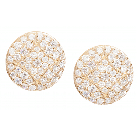 Jamie Wolf Yellow Gold Pave Aladdin Stud Earrings with Diamonds