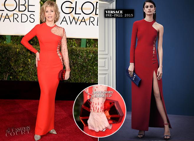 Jane Fonda in Versace | 2015 Golden Globes