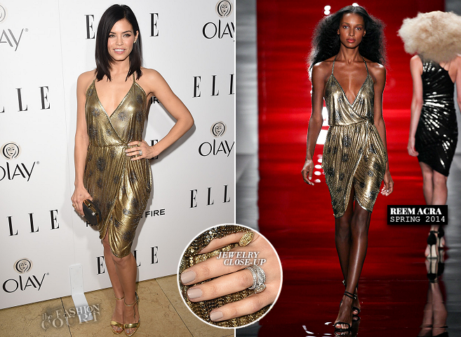 Jenna Dewan-Tatum in Reem Acra | ELLE's Women in Television Celebration 2015