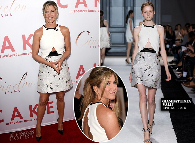 Jennifer Aniston in Giambattista Valli | 'Cake' Hollywood Premiere