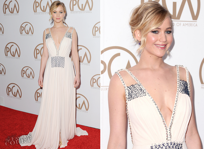 Jennifer Lawrence in Prada | 2015 PGA Awards
