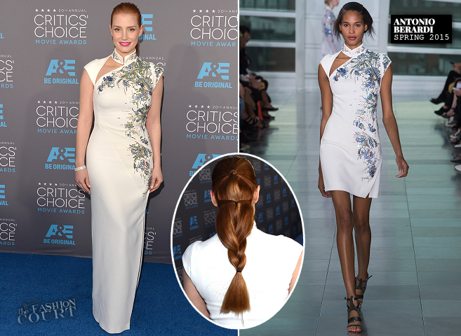 Jessica Chastain in Antonio Berardi | 2015 Critics' Choice Movie Awards