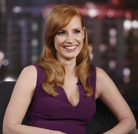 Jessica Chastain in Elie Saab | 'Jimmy Kimmel Live'