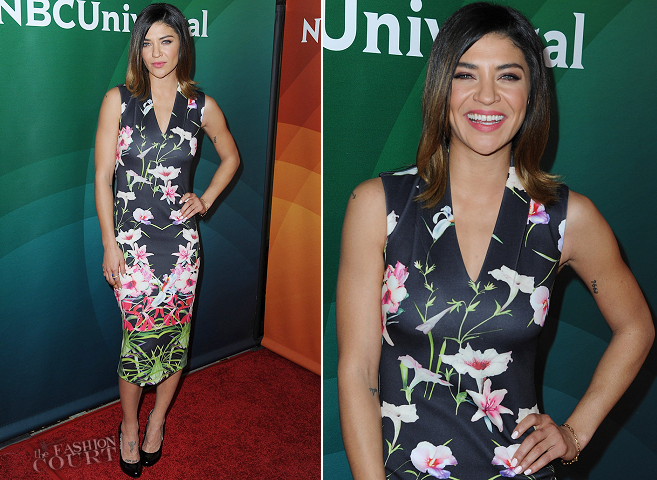 Jessica Szohr in Ted Baker   NBCUniversal 2015 Winter TCA Tour: Day 1