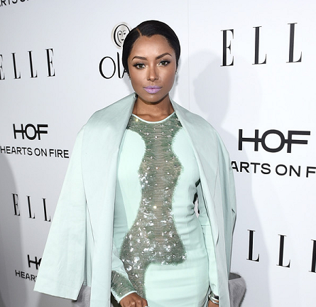 Kat Graham in Azzaro & Paper London | ELLE's Women in Television Celebration 2015