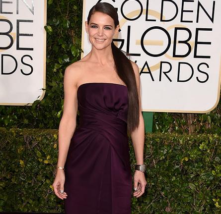 Katie Holmes in Marchesa | 2015 Golden Globes