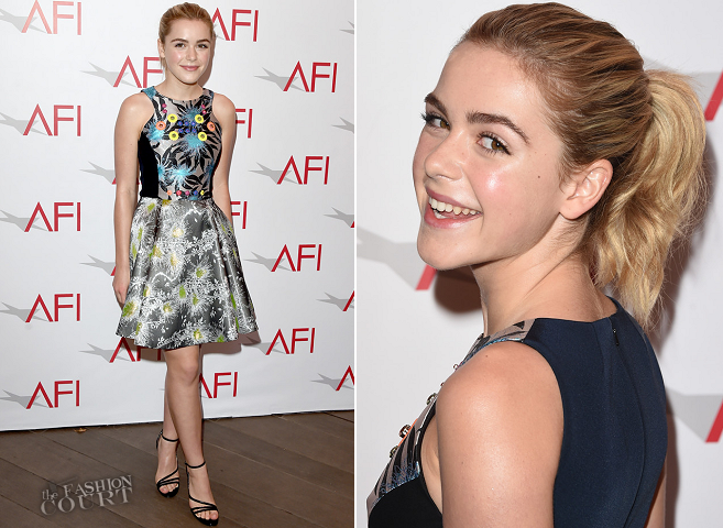 Kiernan Shipka in Peter Pilotto | 2015 AFI Awards