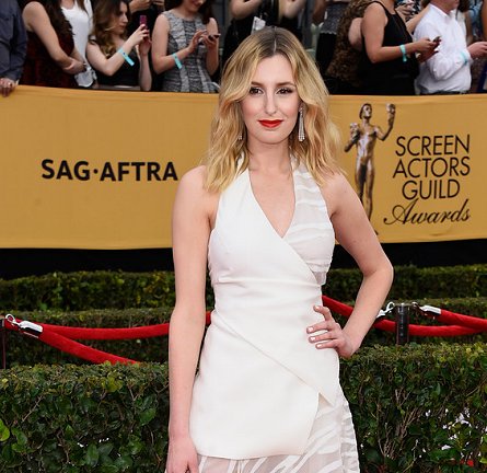 Laura Carmichael in Vionnet | 2015 SAG Awards