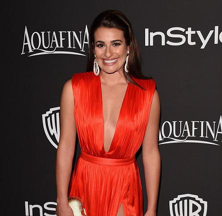Lea Michele in Emanuel Ungaro | 2015 Warner Bros. / InStyle Golden Globe Awards After Party