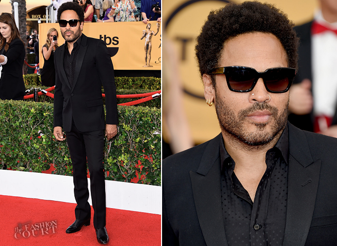 Lenny Kravitz in Saint Laurent | 2015 SAG Awards