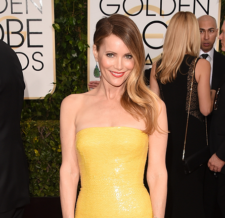 Leslie Mann in KAUFMANFRANCO | 2015 Golden Globes