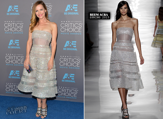 Leslie Mann in Reem Acra | 2015 Critics' Choice Movie Awards