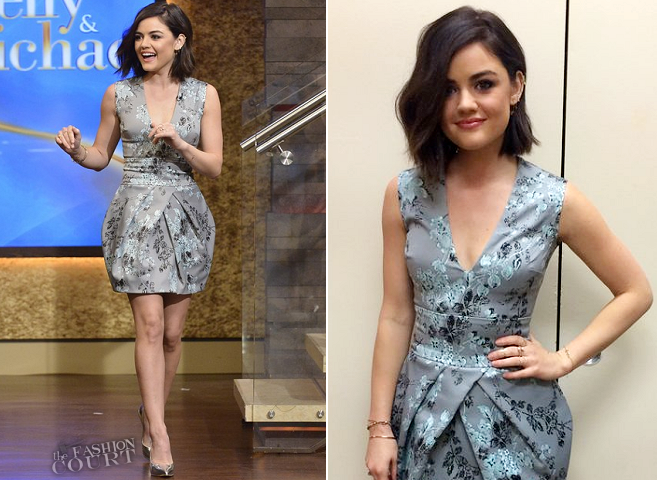 Lucy Hale in Vera Wang | 'LIVE with Kelly and Michael'