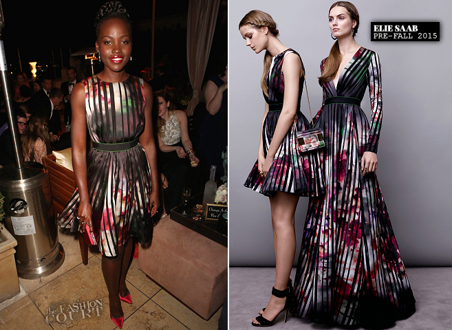 Lupita Nyong'o in Elie Saab | The Weinstein Company & Netflix's SAG After Party 2015
