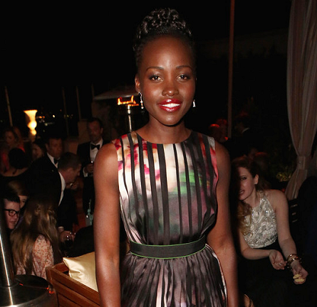 Lupita Nyong'o in Elie Saab   The Weinstein Company & Netflix's SAG After Party 2015