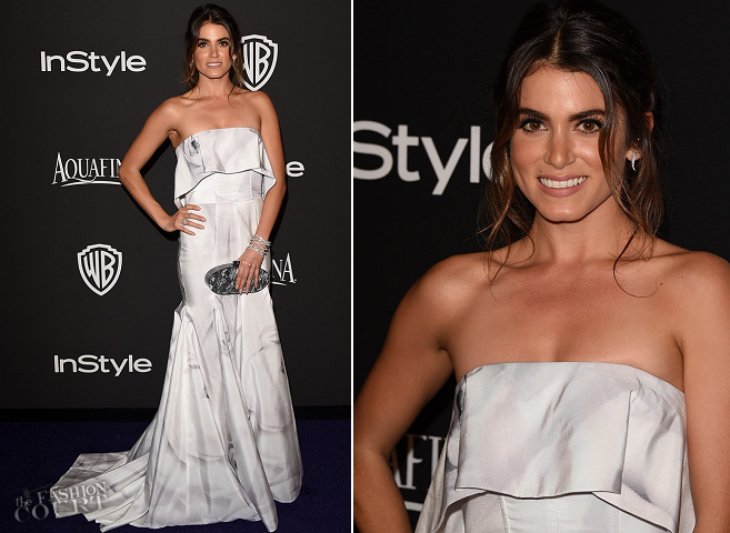 Nikki Reed in Katharine Kidd | 2015 Warner Bros. / InStyle Golden Globe Awards After Party