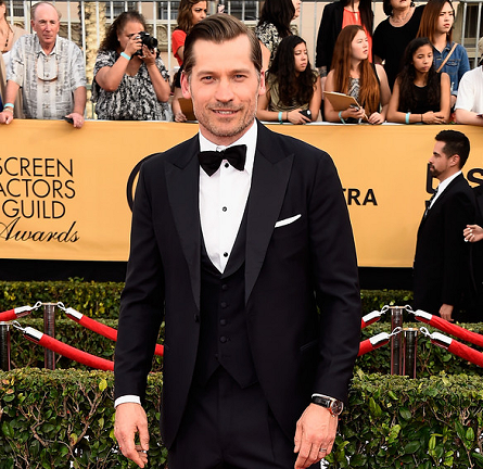 Nikolaj Coster-Waldau in Salvatore Ferragamo | 2015 SAG Awards
