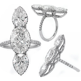 Norman Silverman Diamonds 3-Stone Diamond Ring