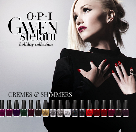 Review: OPI x Gwen Stefani Holiday 2014 Collection - Cremes & Shimmers