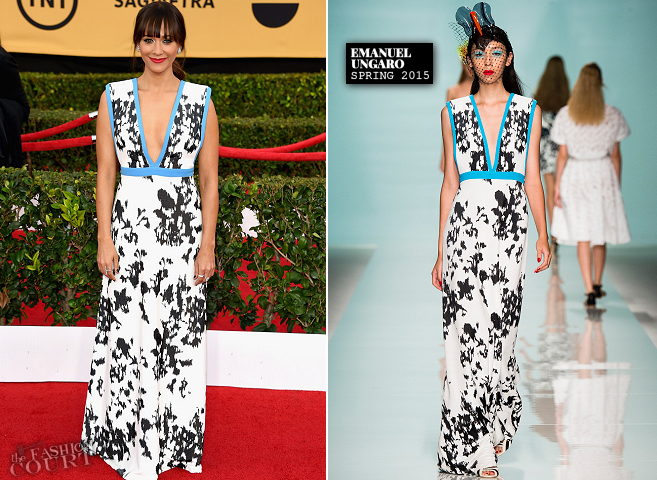 Rashida Jones in Emanuel Ungaro | 2015 SAG Awards