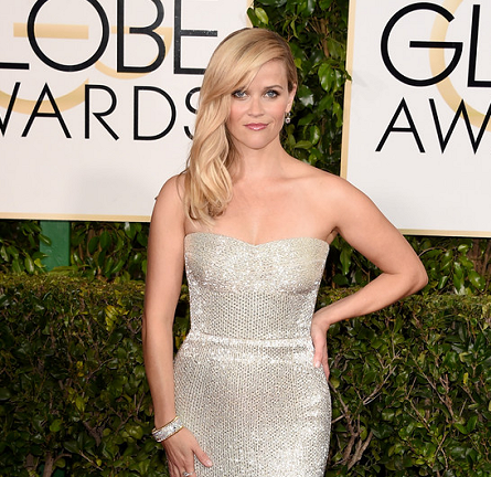 Reese Witherspoon in Calvin Klein Collection | 2015 Golden Globes