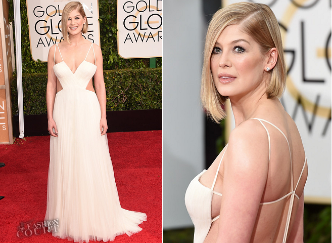 Rosamund Pike in Vera Wang | 2015 Golden Globes