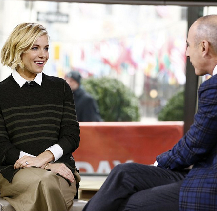 Sienna Miller in Sonia Rykiel | 'The Today Show'