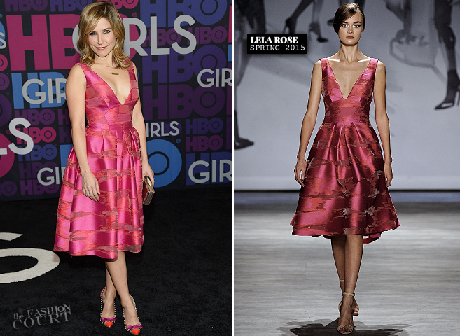 Sophia Bush in Lela Rose | 'Girls' Season 4 NYC Premiere