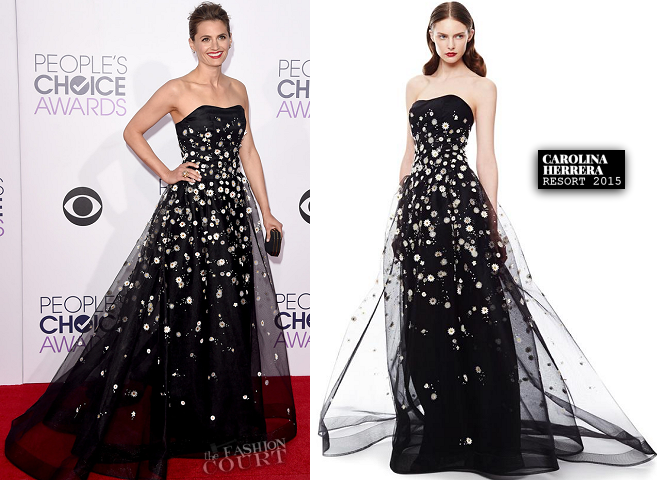 Stana Katic in Carolina Herrera | 2015 People's Choice Awards