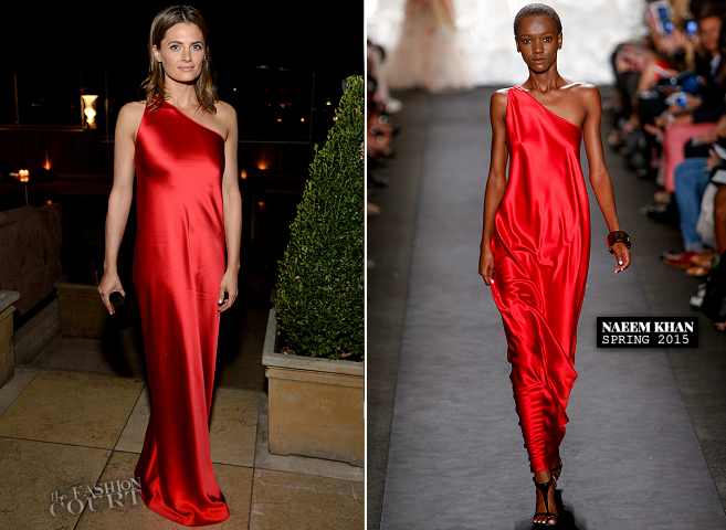 Stana Katic in Naeem Khan | ELLE's Women in Television Celebration 2015