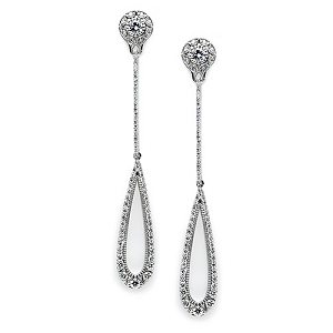 TACORI 18K White Gold Diamond Drop Earrings