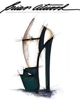 Brian Atwood Custom Velvet SASHA Platform Sandals