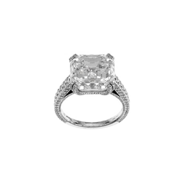 Chopard High Jewelry 18k White Gold Diamond Square Cut Ring